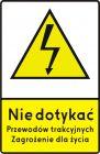 Znak G-2 Sieć pod napięciem - drogowy przed przejazdami kolejowymi