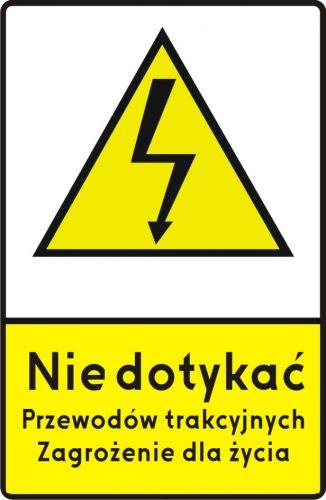 Znak G-2 Sieć pod napięciem - drogowy przed przejazdami kolejowymi - Przejazdy kolejowe – znaki i oznaczenia – znaki drogowe, cz. IV
