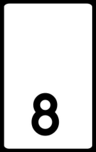 Znak hektometrowy, cyfra hektometrowa U-8 - Znaki wskazujące pikietaż drogi