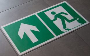 Znak podłogowy, naklejka BHP - Ograniczenie prędkości