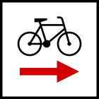 Znak R-1b Zmiana kierunku szlaku rowerowego lokalnego R-1b - drogowy