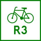 Znak R-2 Szlak rowerowy międzynarodowy R-2 - drogowy