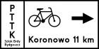 Tablica szlaku rowerowego R-3