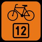 Znak R-4 Informacja o szlaku rowerowym R-4 - drogowy