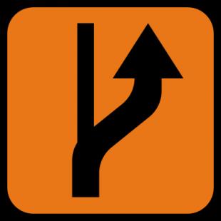 Znak R-4a Informacja o rzeczywistym przebiegu szlaku rowerowego R-4a - drogowy
