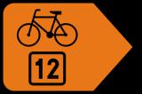 Znak R-4b Zmiana kierunku szlaku rowerowego R-4b - drogowy - Znaki szlaków rowerowych