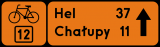 Znak R-4c Drogowskaz tablicowy szlaku rowerowego R-4c - drogowy - Znaki szlaków rowerowych