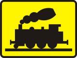 Znak T-10 Tabliczka wskazująca bocznicę kolejową lub tor o podobnym charakterze - drogowy - Tabliczki do znaków drogowych – znaki drogowe, cz. V