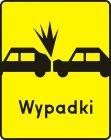 Znak T-14a Tabliczka wskazująca miejsce częstych zderzeń z poprzedzającymi pojazdami - drogowy