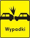 Znak T-14a Tabliczka wskazująca miejsce częstych zderzeń z poprzedzającymi pojazdami - drogowy - Tabliczki do znaków drogowych – znaki drogowe, cz. V