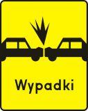 Znak T-14b Tabliczka wskazująca miejsce częstych zderzeń czołowych - drogowy - Tabliczki do znaków drogowych – znaki drogowe, cz. V