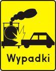 Znak T-14d Tabliczka wskazująca przejazd kolejowy na którym warunki powodują szczególne niebezpieczeństwo powstania wypadków - drogowy