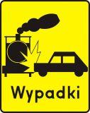 Znak T-14d Tabliczka wskazująca przejazd kolejowy na którym warunki powodują szczególne niebezpieczeństwo powstania wypadków - drogowy - Tabliczki do znaków drogowych – znaki drogowe, cz. V