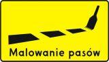 Znak T-19 Tabliczka wskazująca na malowanie znaków poziomych - drogowy - Tabliczki do znaków drogowych – znaki drogowe, cz. V