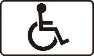 Znak T-29 Miejsce przeznaczone dla pojazdu samochodu osoby niepełnosprawnej - drogowy