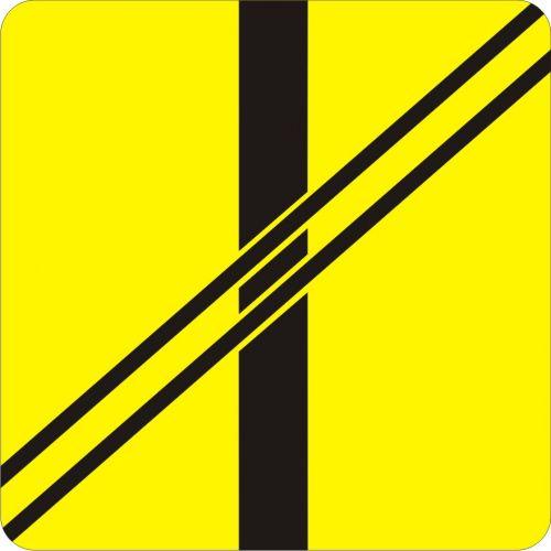 Znak T-7 Tabliczka wskazująca układ torów i drogi na przejeździe - drogowy - Tabliczki do znaków drogowych – znaki drogowe, cz. V