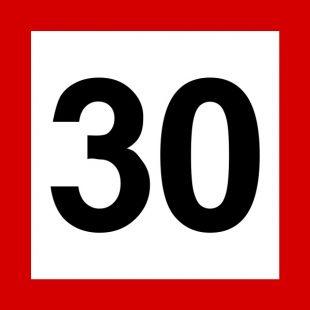 Znak tramwajowy BT-1 zakazu - Ograniczenie prędkości