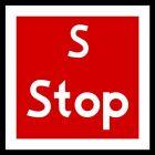Znak tramwajowy BT-5 zakazu - Stop - sygnalizacja obsługiwana ręcznie