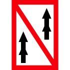 Znak żeglugowy A.3 Zakaz wyprzedzania - dotyczy zestawów
