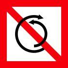 Znak żeglugowy A.8 Zakaz zawracania