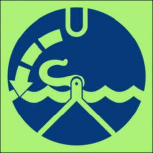 Zwolnić haki - znak morski - FC007