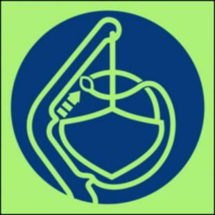 Zwolnić zabezpieczenie sztormowe - znak morski - FC010